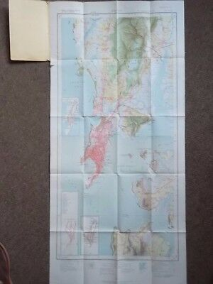 """BOMBAY and Surrounding Country 1930's Map - 1932 'Survey of India' 1"""" = 1 Mile"""
