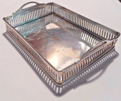 Vintage International Silver Miniature 1948 Proteus Galley Card Tray