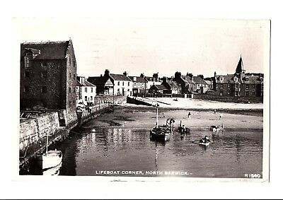 Old Postcard Lifeboat Corner North Berwick Pm 1962