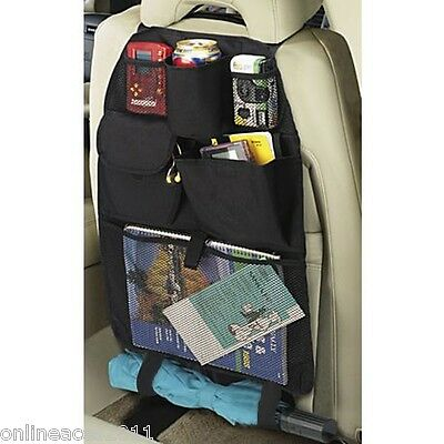 CAR SEAT ORGANISER Multi Pocket Storage Tidy Universal Travel Caddy Holder Stow