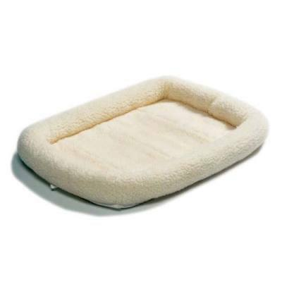 "Midwest Quiet Time Fleece Dog Crate Bed White 30"" x 21"""
