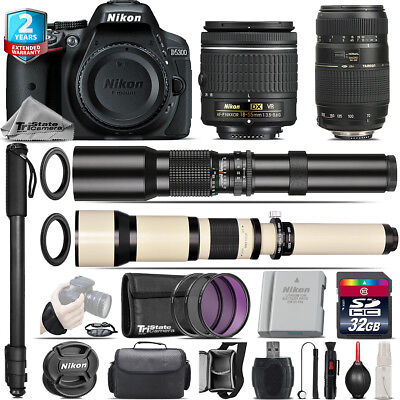 Nikon D5300 DSLR + AF-P 18-55mm VR + Tamron 70-300mm + 500-1300mm - 32GB Kit