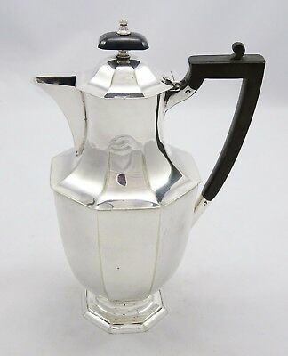 Quality Vintage Henry Atkin Bros Silver Plated Art Deco Mirror Finish Coffee Pot