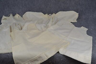 baby doll dress lot 4 infant slip white cotton antique original