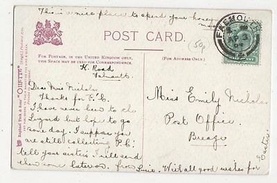 Miss Emily Nicholas Post Office Breage 1904 300a