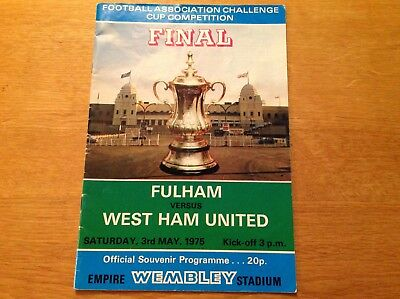 West Ham United vs Fulham multi signed 1975 FA Cup final programme