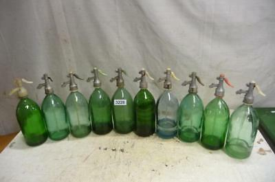 3228. 10 alte Sodaflaschen Siphonflasche Old soda siphon seltzer