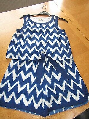 Next Girls Playsuit Short & Top All In One Holiday Summer Set Age 9-10-11