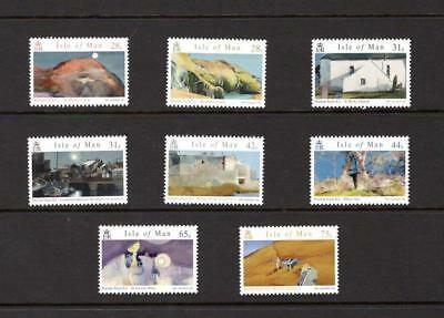 (X141) Isle of Man NORMAN SAYLE PAINTINGS  2007 SET OF 8  MNH more listed