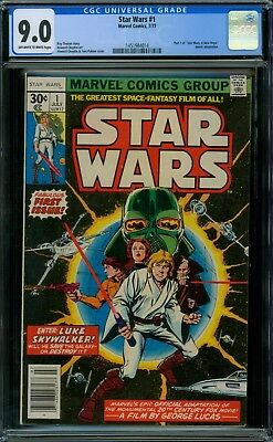 Star Wars 1 CGC 9.0 - OW/W Pages - No Reserve Auction