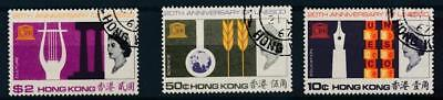 [6701] Hong Kong  1966 UNESCO good set very fine used stamps