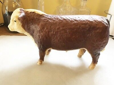 "Vintage 12"" BREYER - Polled Hereford Bull Cow - RARE Great Shape Glossy"