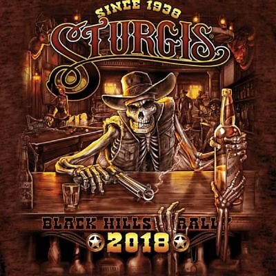2018 Sturgis Motorcycle Rally Outlaw Saloon Russet T-Shirt