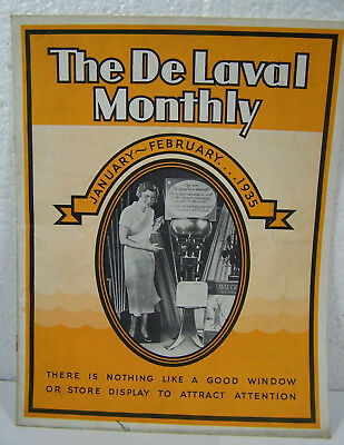 vntg 1935 DE LAVAL Monthly Farm Machinery Cream Separator SALESMAN ADVERTISING