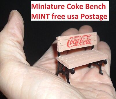 Coca Cola REAL NATURAL WOOD Miniature Coke Bench Advertising Display Bench MINT!