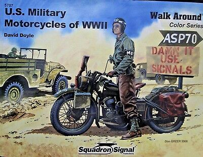 5707 US Military Motorcycles of WWII - Walk Around Color Series- Squadron/Signal