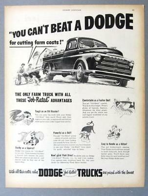 Original 1950 Dodge Pickup Ad YOU CAN'T BEAT A DODGE FOR CUTTING COSTS