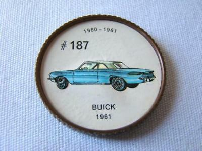 1960-1961 BUICK #187 JELLO Picture Wheel Token Advertising Give-Away