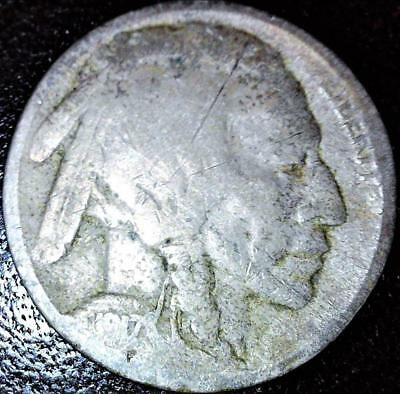 1917 Buffalo Nickel P Mint 5c US Indian Head Type Coin Value Date Lot M KM# 134