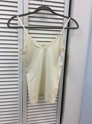 Gillian & O'Malley Women's Seamless reversible Cami Shell NEW Size S Small