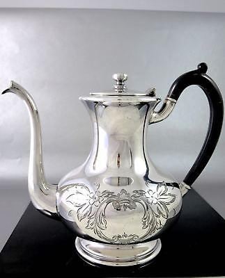 Vintage Wm.A.ROGERS Hand Engaved Silverplate COFFEE POT Floral Pattern