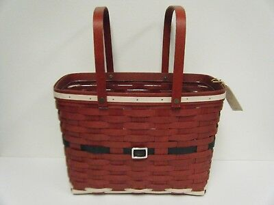 Longaberger Santa Belly Magazine Basket 13176 & Protector 40401 New with Tag