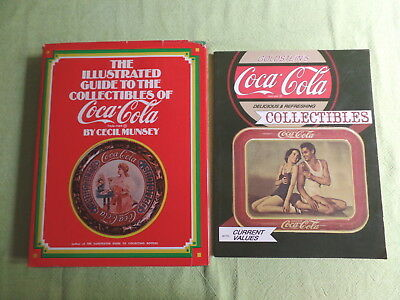 Lot of 2 Coca-Cola COKE Collectibles Guide Books Reference Photos