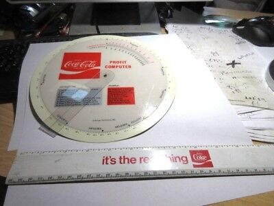 Vtg.70's COCA COLA Advertising Ruler & Profit Computer.1973.It's The Real Thing