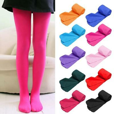 Kids Girls Ballet Dance Opaque Tights Pantyhose Hosiery Stockings - 12 Colors