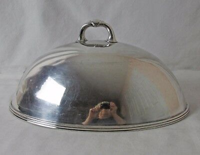 1904 – 1914 Silver Plated Meat Dome Cover 16 Inch Smith Silver Co Great Pc