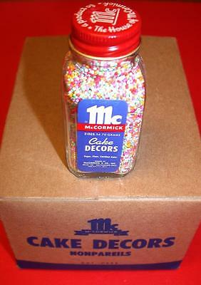 Vintage 1950's 60s McCormick Cake Decors NONPAREILS Old Store Stock MIP mint NOS