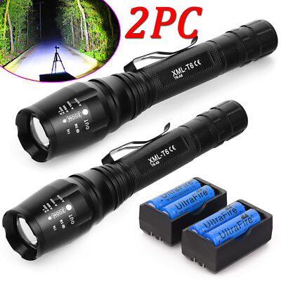 20000LM XM-L T6 LED Flashlight 5Modes ZOOM Tactical/&Military Torch Lamp