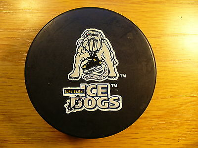 IHL Long Beach Ice Dogs Coach Ad Reverse Logo Hockey Puck Check My Other Pucks