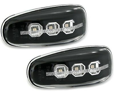 LED SEITENBLINKER SET in SCHWARZ für MERCEDES W210 W638 BLINKER EAGLE EYES