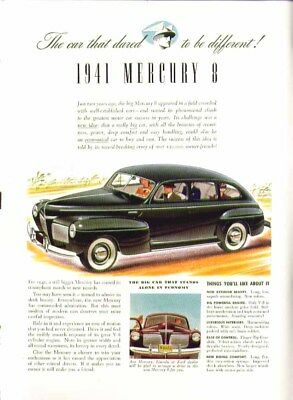 The car that dared to be different Mercury ad 1941