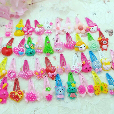 20pcs/Set Cute Random Cartoon Styles Baby Kids Girls HairPin Hair Clips Jewelry
