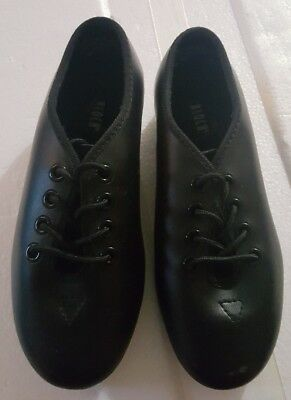 Child Size 12.5W  Black Lace Up Leather Tap Shoes by Bloch Techno Tap #3