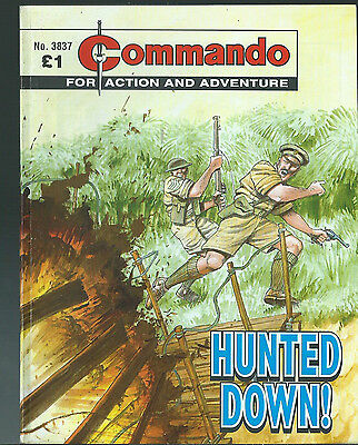 Hunted Down,commando For Action And Adventure,no.3837,war Comic,2005
