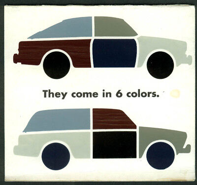 Volkswagen Fastback & Squareback They Come in 6 Colors chip chart 1965