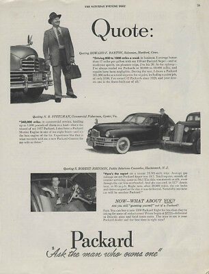 Quote: N R Steelman S Robert Johnson on the Packard ad 1950