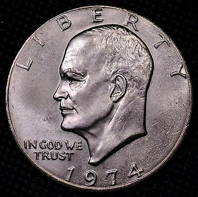 $1 1974 P Eisenhower IKE raw ungraded UNC (G2-368)