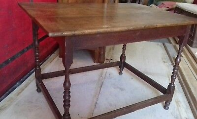 Antique 19Thc Hand Made Oak Plank Top  French Table From Giverny Lovely Cond
