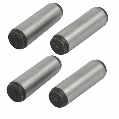Carbon Steel GB117 40mm Length 12mm Small End Diameter Taper Pin 4pcs