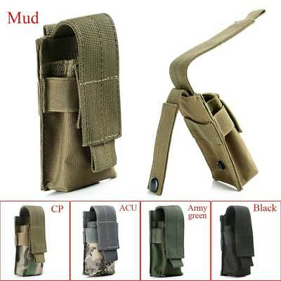 Outdoor Tactical Military Flashlight Torch Belt Holster Holder Case Pouch