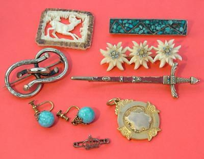 Job Lot Collection Antique & Vintage Jewellery From Estate Clearance
