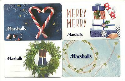 Lot of (4) Marshalls Christmas Holiday Wreath Gift Cards No $ Value Collectible