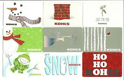 Lot of (9) Kohl's Christmas Holiday Snowman Gift Cards No $ Value Collectible