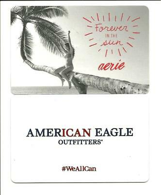 Lot 2 American Eagle Outfitters Girl on Tree Gift Card No $ Value Collectible AE