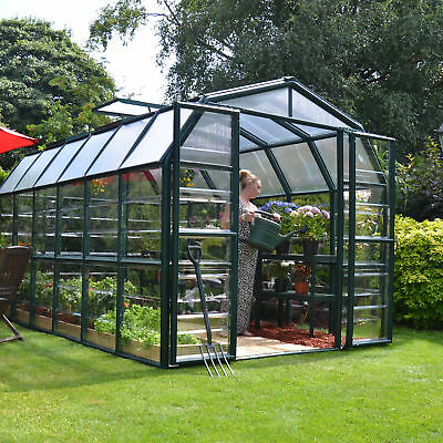 Rion Greenhouses Grand Gardener 2 Clear 8 Ft. W x 12 Ft. D Greenhouse