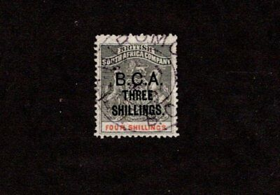 British Central Africa 1891 3Sh On 4Sh Surcharged Used Stamp